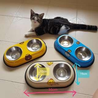 *LAST 2* Dual Function Pet/Cat Food Dish semi auto Dispenser for cat kitten food and cat biscuit, canned food not cat toy catnip cage cat spaceship bag cat tent condo tree