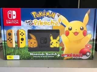 BRAND NEW LIMITED EDITION Pokemon Pikachu Edition Nintendo Switch