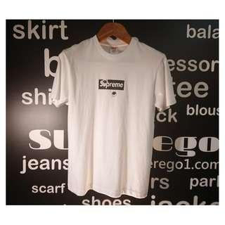 SUPREME white tee shirt