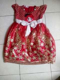 sale!!! dress merah anak