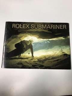 Rolex Submariner instruction book 1990s-2010