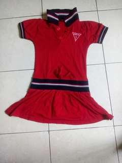 sale!!! dress merah anak 3-4thn
