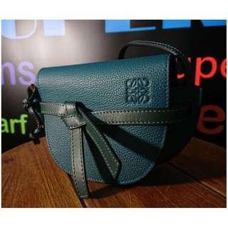 LOEWE green mini bag