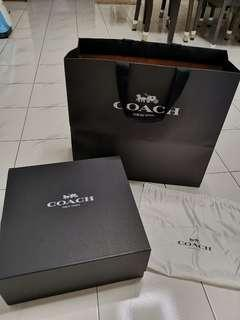 Coach Box + Paper Bag + Dust Bag