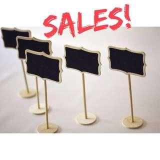 Mini Chalk Board Stand - Clearance Sales!