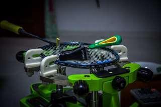 Badminton Racket restring stringing service grommets change
