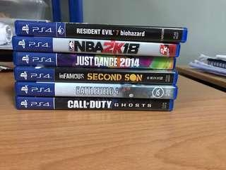 Pre-loved PS4 games for sale!