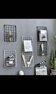 Metal grid organiser rack po