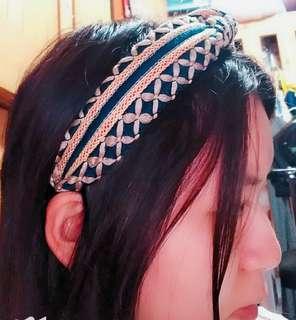 韓國复古金色麥穗設計感頭箍結髮氣質白搭款式