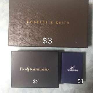 Charles & Keith 盒連防塵袋/ polo盒/ Swarovski box