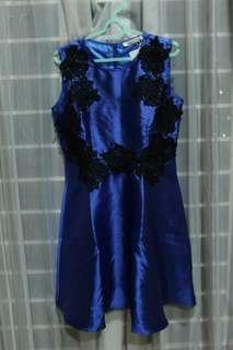 Moscato navy dress