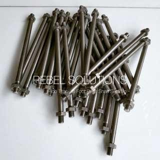 Titanium Fiido Foot Pegs Shaft