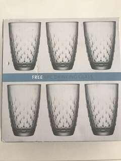 Brand new 6pcs drinking glass