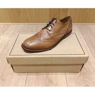 ASOS leather brogues with leat 雕花 牛津鞋 英倫 休閒鞋 紳士 經典 英國 UK9 結婚