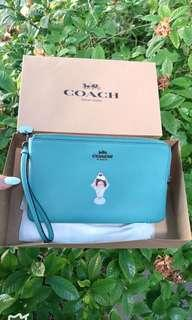 Brand New Authentic Coach double zip pouch wristlet