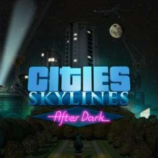 Cities Skylines and After Dark DLC