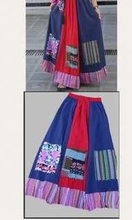 民族风上衣和裙子 Traditional CNY long dress (one set)