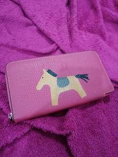 Horse pink wallet