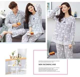 Couple Pajamas (one set) Wedding Gift 情侣睡衣