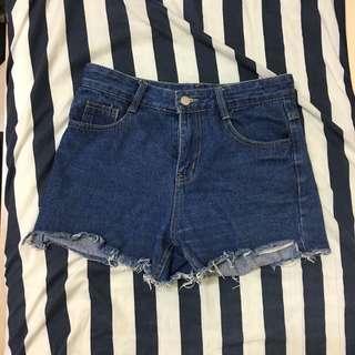 牛仔短褲 韓國購入
