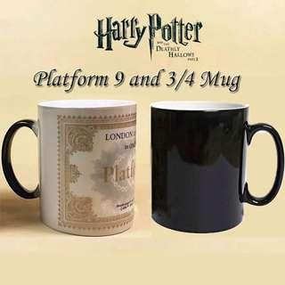 Harry Potter Mug Platform 9 3/4 London to Hogwarts Train Ticket Colour Changing Magic Mug