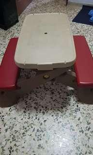 Kids Play Table And Bench Set