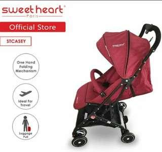 St Casey Stroller with Pull-up Luggage Handle