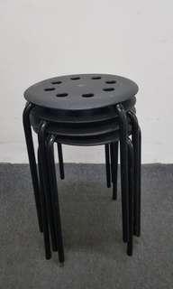 used black stools x4