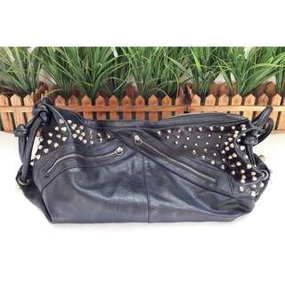 黑龐克肩背手提包$235