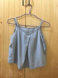 日本灰藍色吊帶上衣 Grey Blue Top