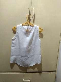 Bayo White Blouse with Texture