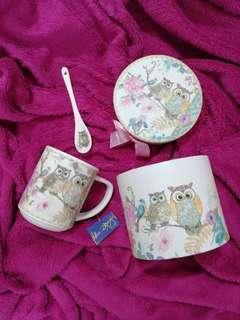 Blue Magic Ceramic Owl Mug