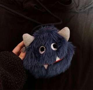 🚚 藍色怪獸單肩包側背包