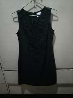 Freeway Black Dress with Chest Details