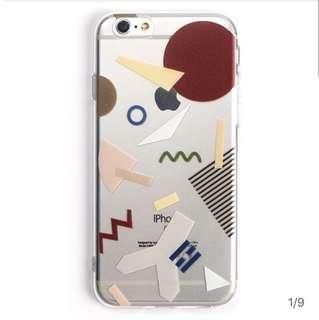 🚚 Iphone7 彩色幾何手機軟殼