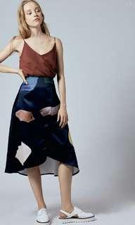Our Second Nature OSN Birthstone Overlap Skirt in dark blue
