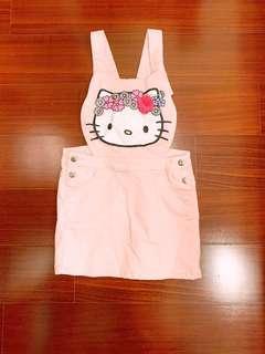 🚚 二手👗hm女童kitty貓吊帶裙-粉色5-6歲