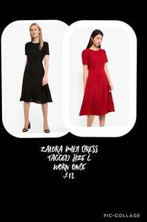 🚚 Zalora Midi Dress (Red)