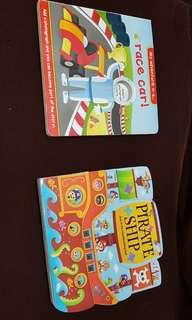 Story books - Race car and Pirate Ship