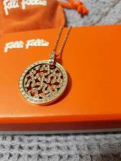 Folli Follie 玫瑰金鑲鑽項鍊