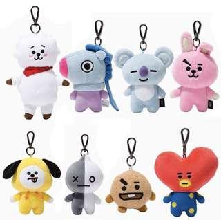 🚚 unofficial bt21 plush keychain