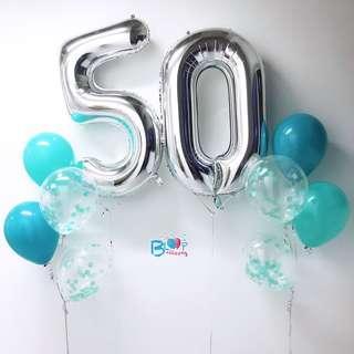"40"" Helium Number Balloon"