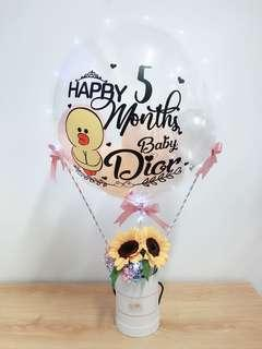 Personalised Hot Air Balloon Flower Box - [SMALL]