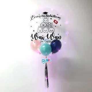 """24"""" personalised helium balloons for graduation"""