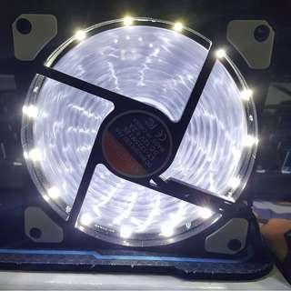 (RUSH) 120mm Case Fan - Kingbao White LED Spiral Type (8x pcs.)