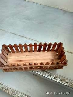 Wooden container Tray,for book, magazine, flowers