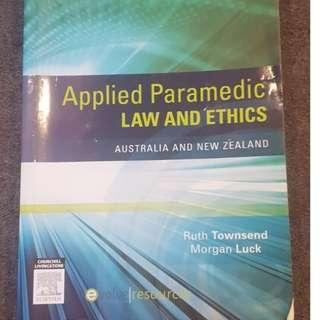 Applied Paramedic Law and Ethics Australia and New Zealand - Ruth Townsend and Morgan Luck