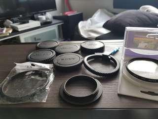 Assorted lens body filter caps