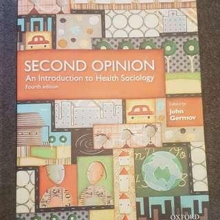 Second Opinion - An Introduction to Health Sociology (4th ed.) - John Germov
