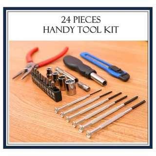 🚚 24 pieces Handy Tool Kit